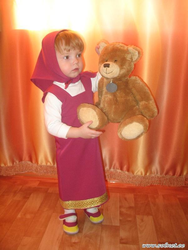 Костюм маши из мультфильма маша и медведь своими руками