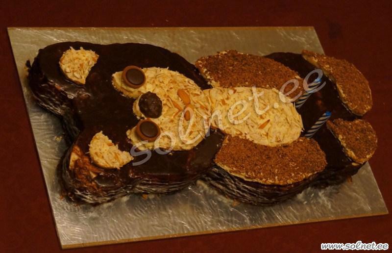 Трафарет медведя для торта