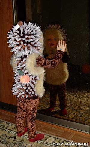 Новогодний костюм ежика для мальчика своими руками фото 9