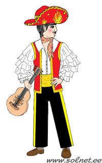 Мексиканский костюм для мальчика своими руками