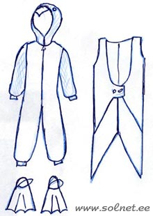 Выкройка костюма пингвина своими руками