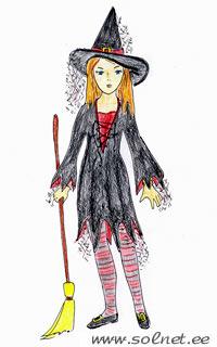 Ведьмочка. Ведьма. Шляпа ведьмы. Костюм на Новый год, на ... - photo#11