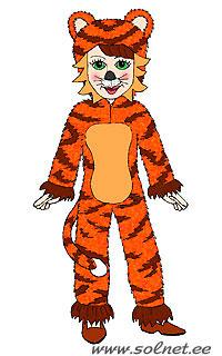 Новогодний тигр своими руками 811