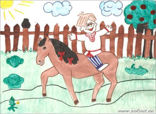 картинка к небылице ехал ваня на коне продаются исключительно для
