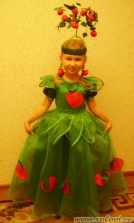 Костюм яблоня своими руками