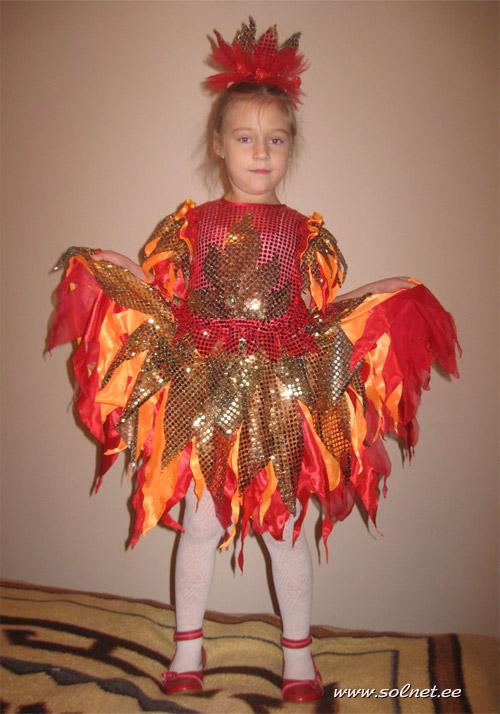 Как сшить костюм огня для девочки 64