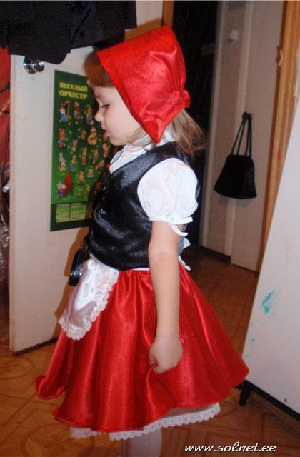 Костюм красной шапочки для девочки сшить своими руками 74
