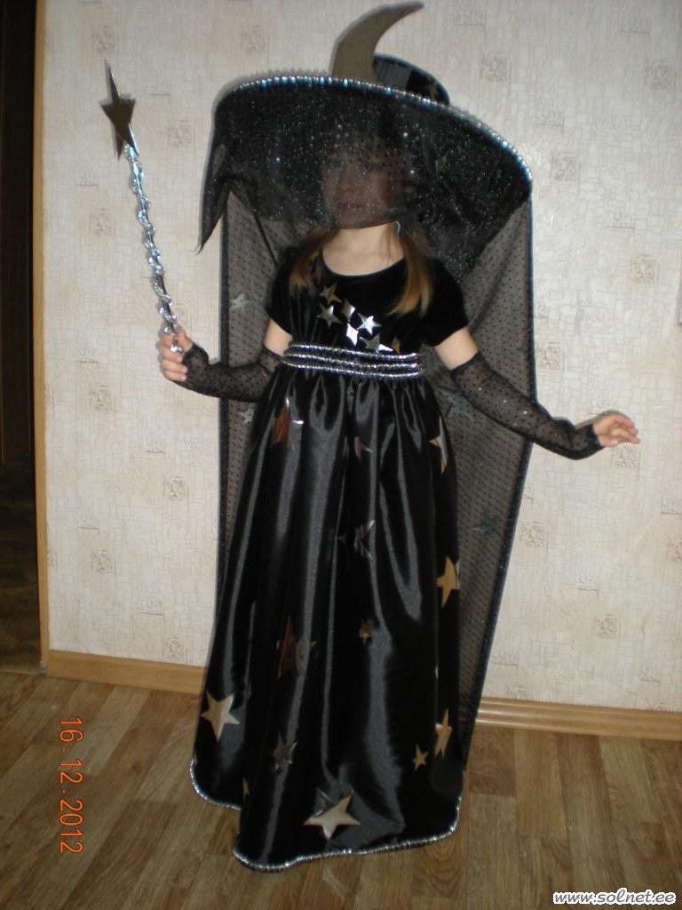 Новогодний костюм ночь для девочки