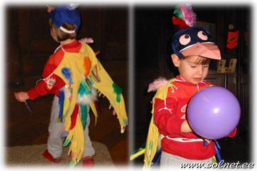 Костюм попугая для мальчика своими руками