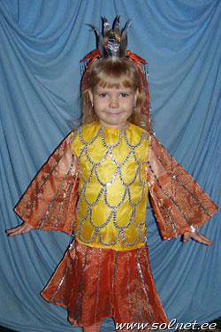 Сделать костюм золотой рыбки своими руками