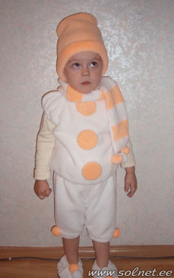 Костюм снеговика своими руками пошаговое фото