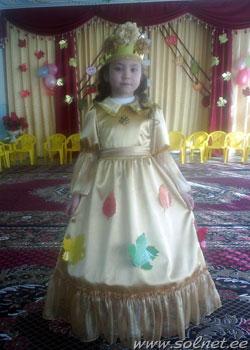 Платье на кокурс золотая осень