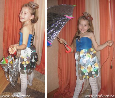 Как сделать платье из дисков