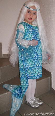 Костюм русалки своими руками для девочки фото