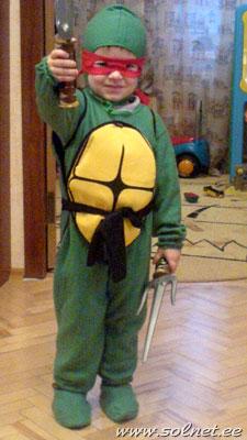 Как сделать самому костюм черепашки ниндзя