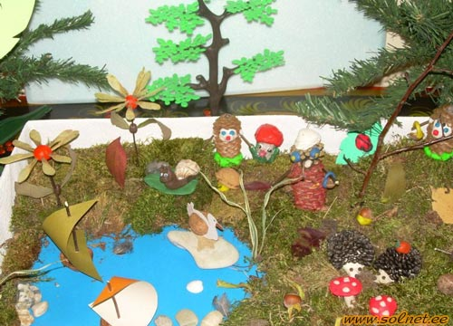 Как сделать лесную поляну для детского сада