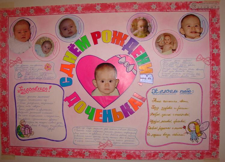 Газета своими руками на день рождения дочери 9