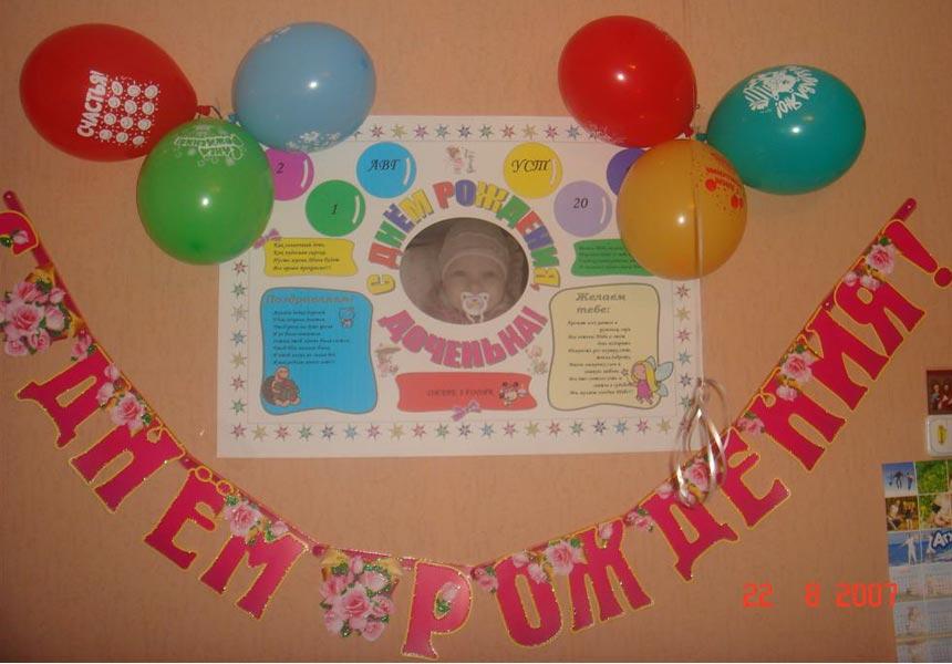 Оформить плакат на день рождения из