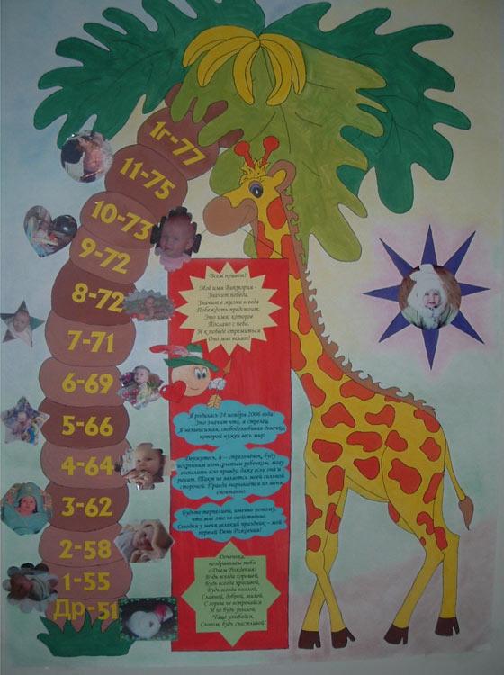 Плакат на 1 годик своими руками 91