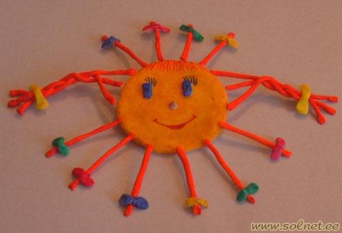 Прикольное солнышко своими руками