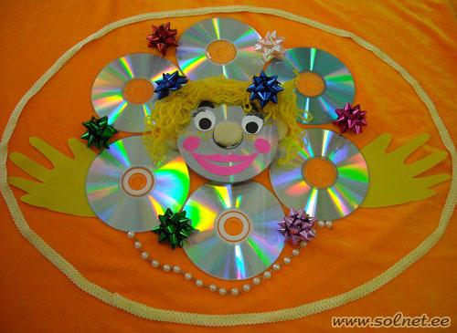 солнышко из дисков картинки самого