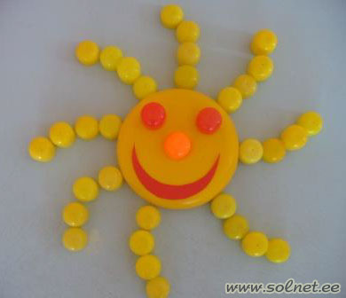 Солнышко из киндер сюрпризов