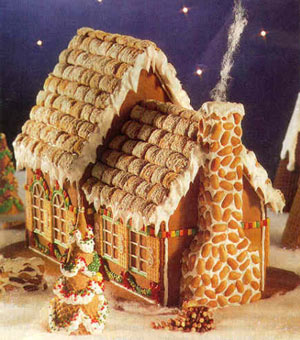 Крыша домика покрыта черепицей из...
