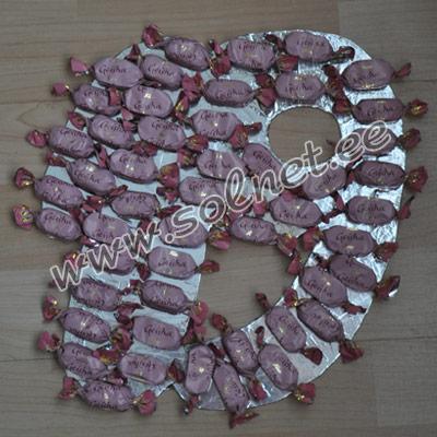 Букет из конфет для любимой учительницы. Мастер класс