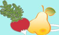 Маски овощей, фруктов, ягод
