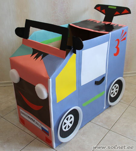 Машина из коробок картинки