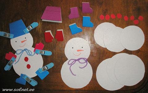 Как сделать снеговиков из бумаги своими руками