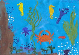 картинки морское дно рисунки